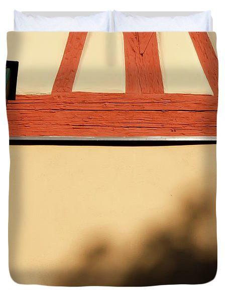 Duvet Cover featuring the photograph Rotenburg Lantern by KG Thienemann