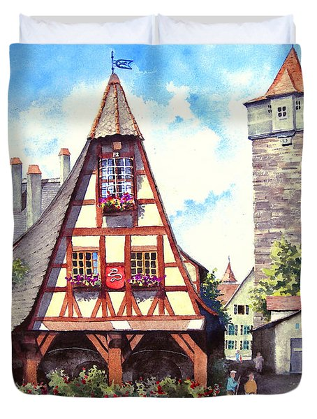 Rothenburg Memories Duvet Cover