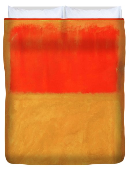 Rothko's Orange And Tan Duvet Cover