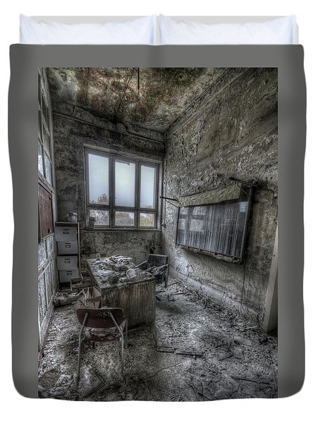 Rotten Office Duvet Cover by Nathan Wright