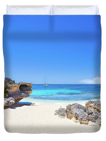 Duvet Cover featuring the photograph Rotto Paradise, Little Parakeet Bay, Rottnest Island by Dave Catley