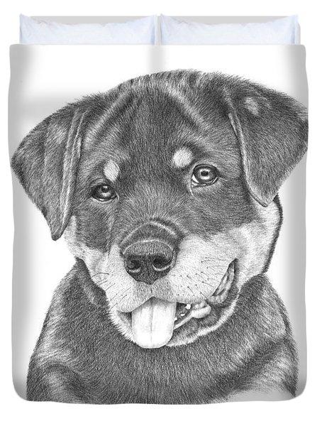 Rottweiler Puppy- Chloe Duvet Cover