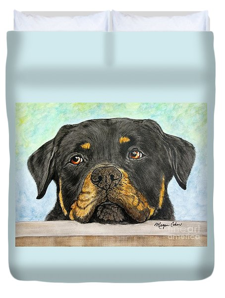 Rottweiler's Sweet Face 2 Duvet Cover