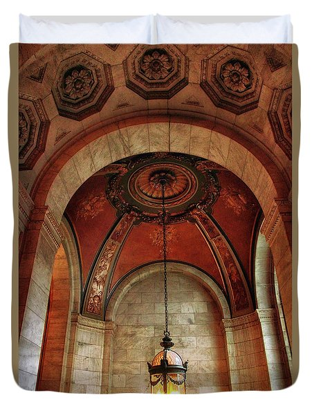 Duvet Cover featuring the photograph Rotunda Ceiling by Jessica Jenney