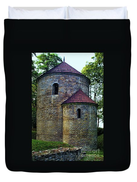 Duvet Cover featuring the photograph Rotunda  by Mariola Bitner