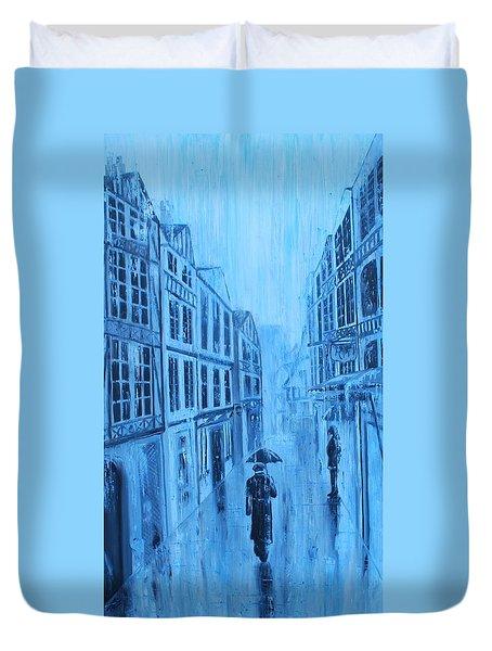 Rouen In The Rain Duvet Cover