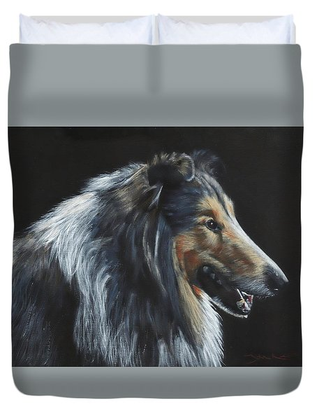 Rough Collie Duvet Cover