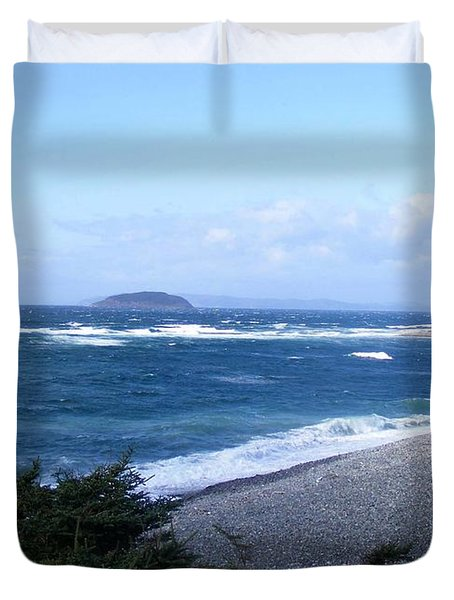 Rough Day On The Point Duvet Cover by Barbara Griffin