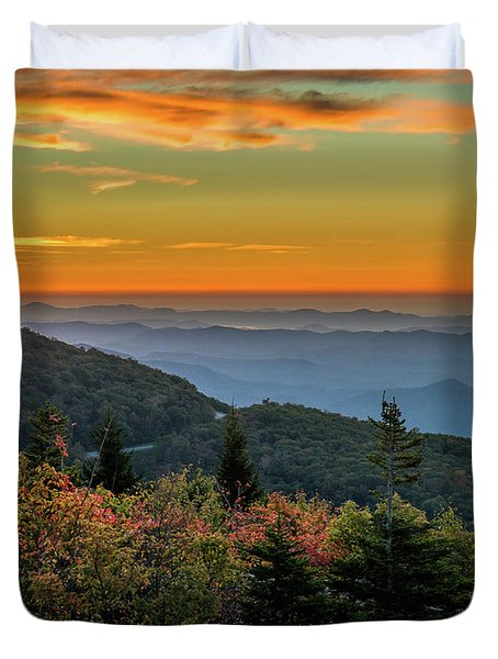 Rough Morning - Blue Ridge Parkway Sunrise Duvet Cover