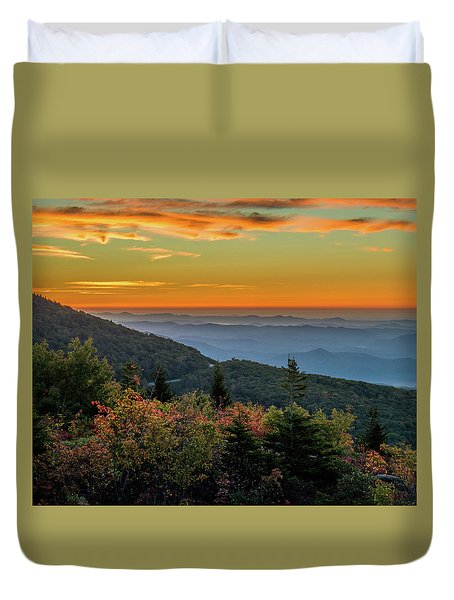 Rough Morning - Blue Ridge Parkway Sunrise Duvet Cover