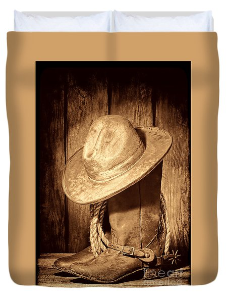 Rough Rider Duvet Cover by American West Legend By Olivier Le Queinec