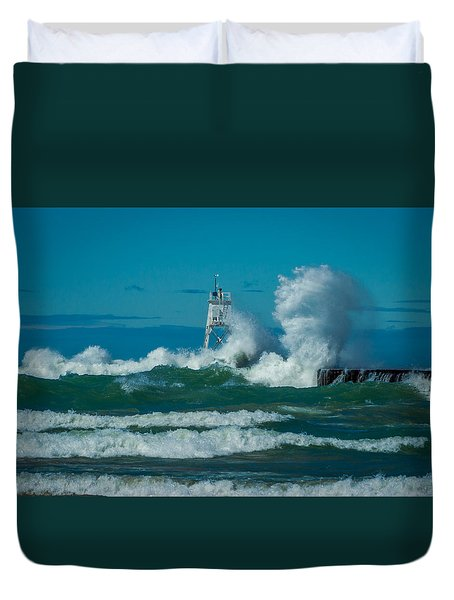 Rough Seas  Duvet Cover