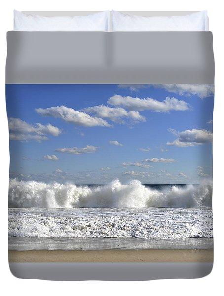 Rough Surf Jersey Shore  Duvet Cover