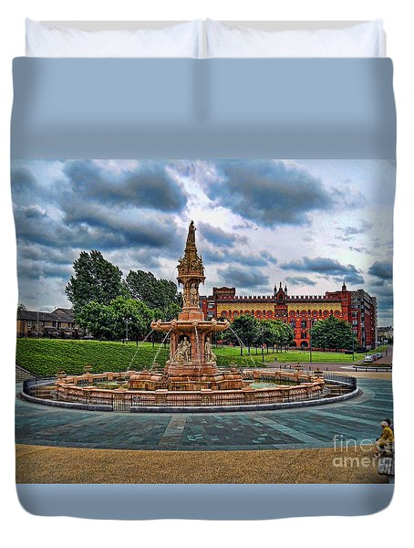 Duvet Cover featuring the photograph Round About by Roberta Byram