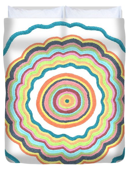Round And Round Duvet Cover