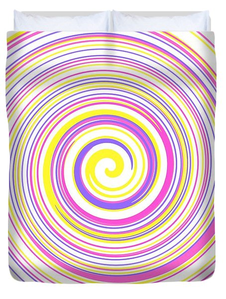 Round And Round Duvet Cover by Kathleen Sartoris
