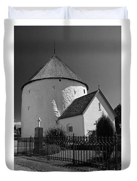 Duvet Cover featuring the photograph Round Church by Inge Riis McDonald