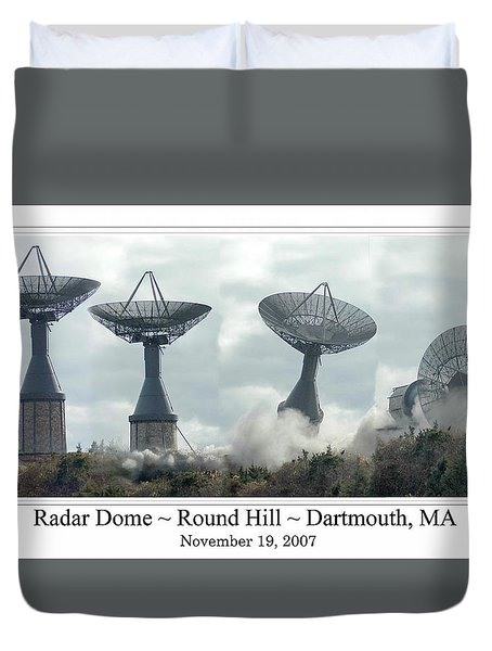 Round Hill Radar Demolition Duvet Cover