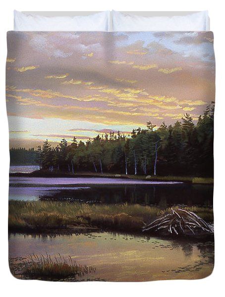 Round Pond Duvet Cover by Art Chartow