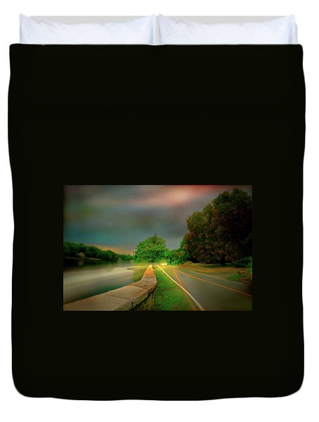 Duvet Cover featuring the photograph Round The Bend by Diana Angstadt