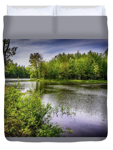 Duvet Cover featuring the photograph Round The Bend In Oil 36 by Mark Myhaver