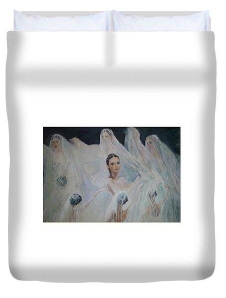 Roundelay. Ballet Dancers Duvet Cover