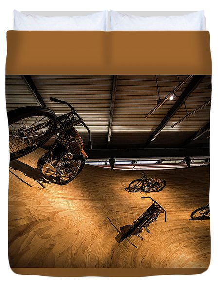 Duvet Cover featuring the photograph Rounding The Bend by Randy Scherkenbach