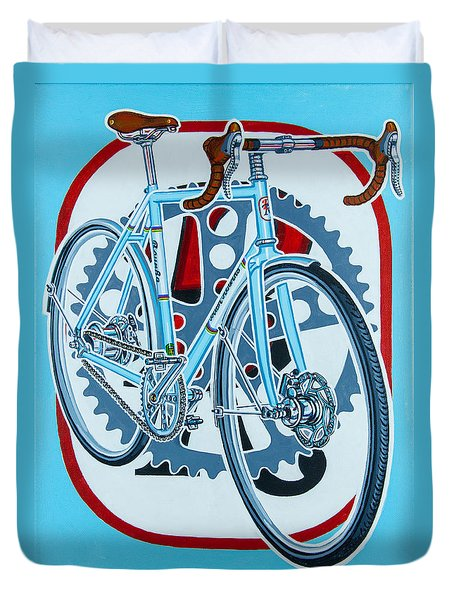Rourke Bicycle Duvet Cover by Mark Jones