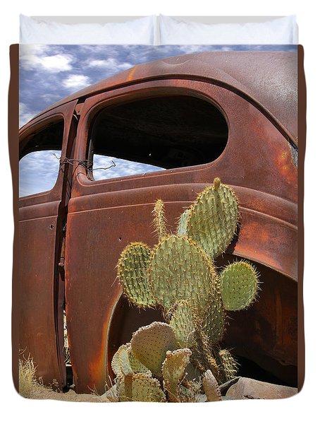 Route 66 Cactus Duvet Cover