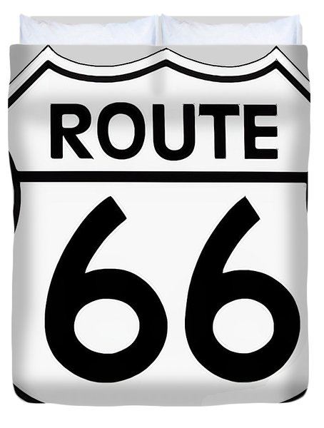 Route 66 Sign Duvet Cover
