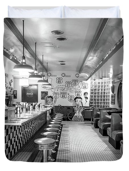 Route 66 Diner  Duvet Cover