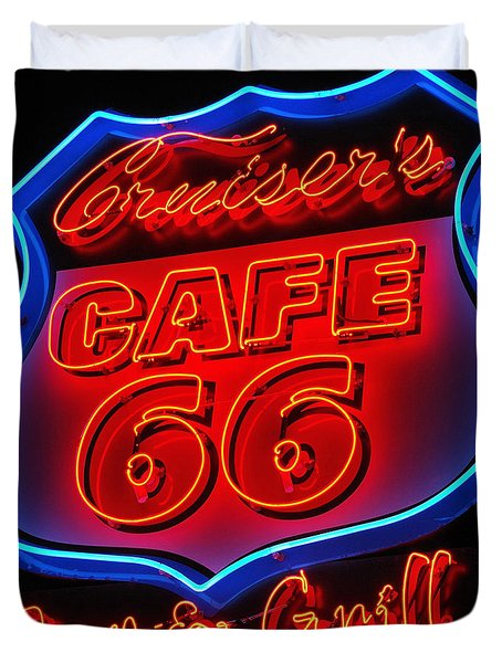 Route 66 Duvet Cover by Donna Greene