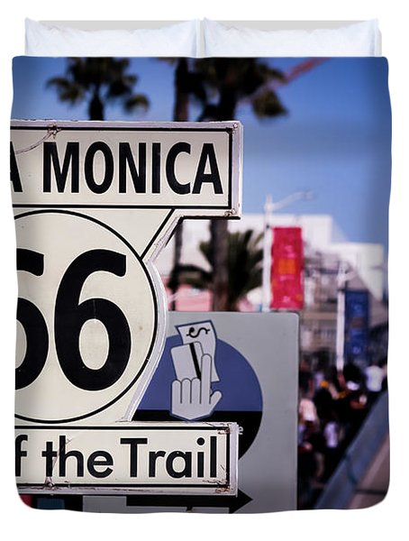 Route 66 End Of Trail Duvet Cover