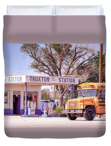Duvet Cover featuring the photograph Route 66 Impression by Juergen Klust