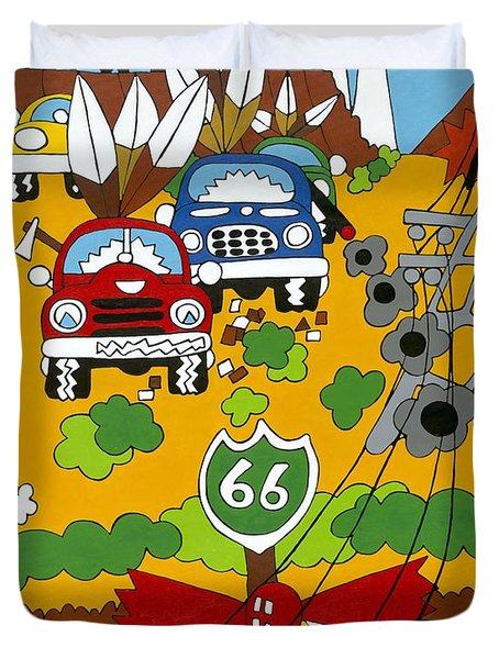 Route 66 Duvet Cover