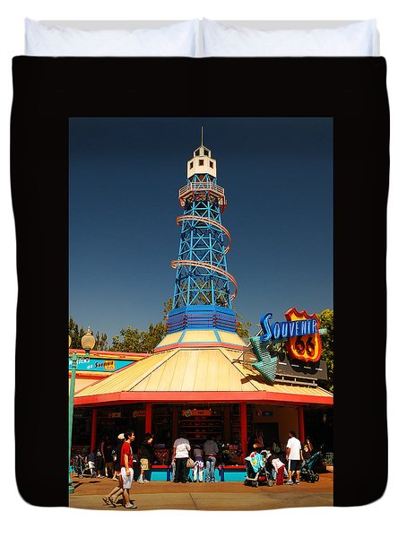 Duvet Cover featuring the photograph Route 66 Souveniers by James Kirkikis