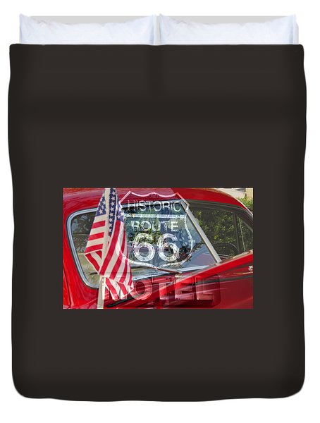 Duvet Cover featuring the photograph Route 66 The American Highway by David Lee Thompson