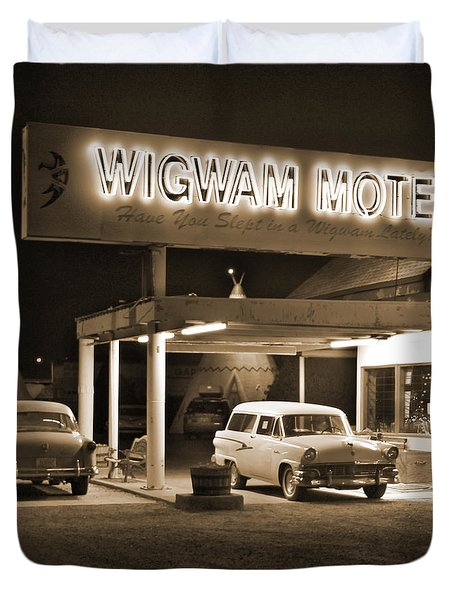 Route 66 - Wigwam Motel Duvet Cover