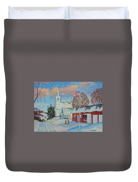 Route 8 North Duvet Cover