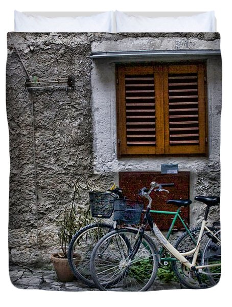 Rovinj Bicycles Duvet Cover