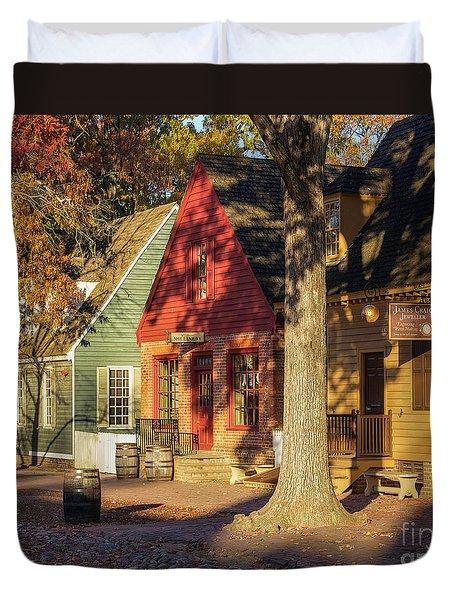 Row Houses Duke Of Gloucester Colonial Williamsburg Duvet Cover