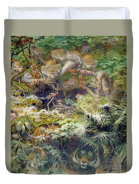 Row In The Jungle Duvet Cover