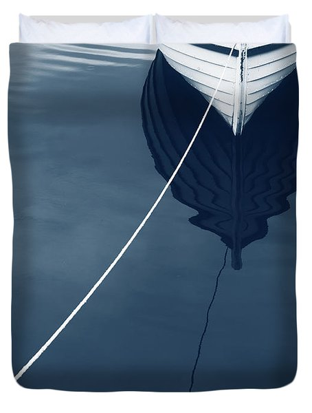 Duvet Cover featuring the photograph Row Row Row Your Boat Life Is But A Dream by Edward Fielding