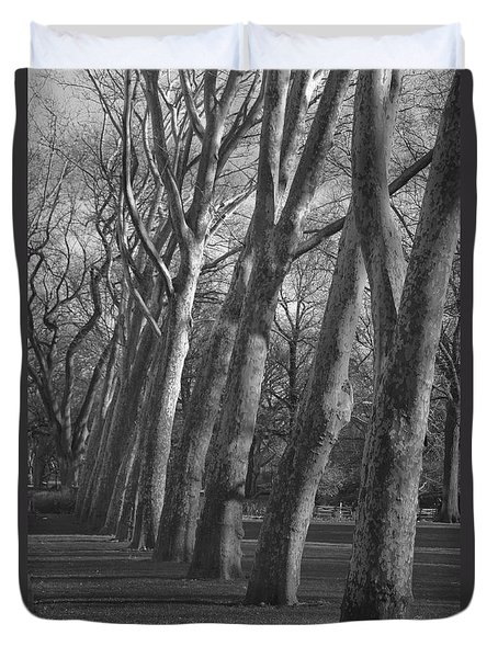 Row Trees Duvet Cover
