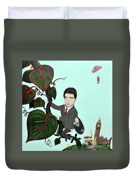 Rowan Atkinson Mr Beanstalk Duvet Cover