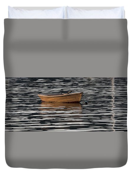 Rowboat At Rest Duvet Cover