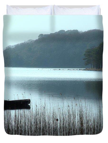 Rowboat On Muckross Lake Duvet Cover
