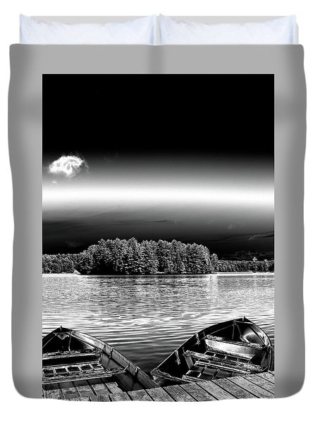 Duvet Cover featuring the photograph Rowboats At The Dock 3 by David Patterson