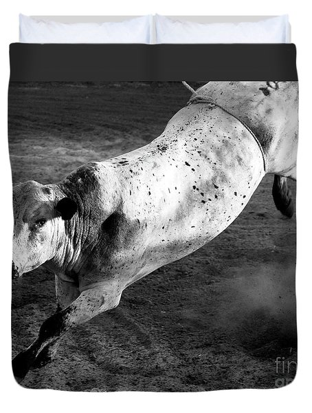 Rowdy Bucking Bull Duvet Cover