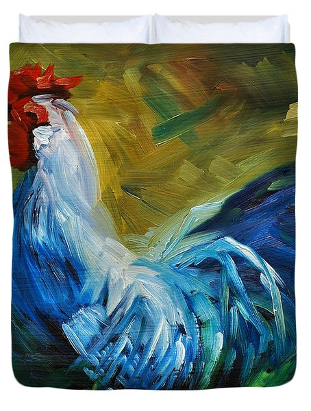 Rowdy Rooster Duvet Cover